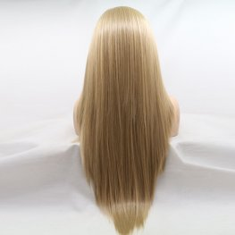 Woman blonde front lace wig