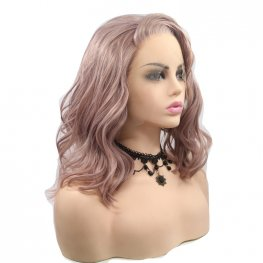 Pink Short Natural Wave Synthetic Wig
